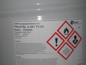 ненасыщенная полиэфирная смола на основе орфтофталевой кислоты и стандартных гликолей, растворенная в стироле